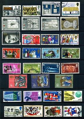 Gb Qeii Fine Used Commemoratives 1968 - 1978 : 24 Sets/ 89 Stamps : 3 Photos