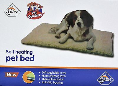 Self Heated Heating Thermal Pet Cat Dog Bed Mat Washable Super Warm Rug 64x90cm