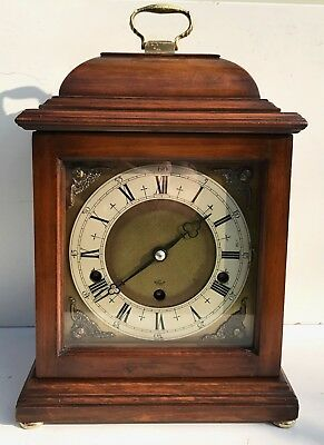 Elliott Walnut Quarter Chiming Mantle Clock Superb