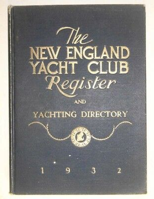 Vintage  OLD NEW ENGLAND YACHT CLUB REGISTER BOAT SAIL DIRECTORY 1932