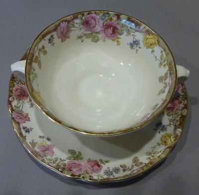 Royal Doulton English Rose Soup Coupe & Underplate D6071