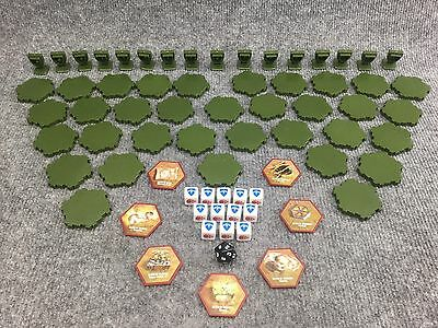 Heroscape Swarm Of The Marro, Swamp Water , Order Markers, Glyphs, Combat Dice!