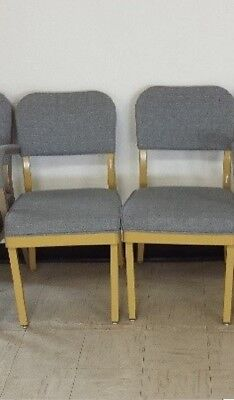 chairs, set of 2 blue fabric  sorry no shipping f-211,12