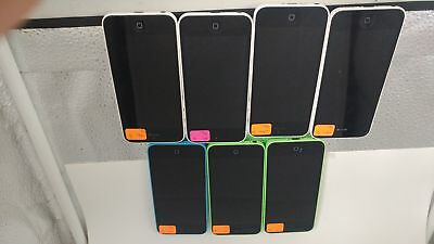 Lot of 7 Apple iPhone 5c 16GB AT&T T-Mobile Unlocked Wholesale Cellphone BULK 74
