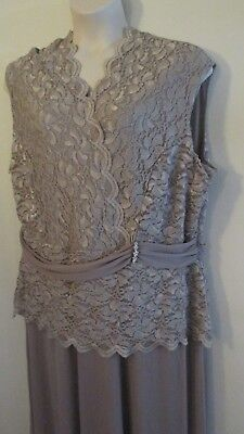 Catherines Plus Size Lace Ballroom Gown 3X Cocktail Wedding Party