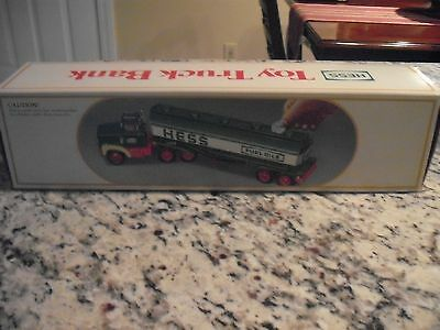 1984 Hess Fuel Oil Tanker Toy Truck Bank (New In Box)