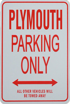 Plymouth - Parking Only Sign