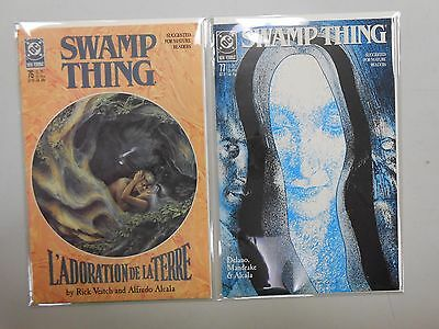 Swamp Thing #76 and 77! (1988, DC)! VF/NM9.0! Copper age DC comic lot of 2!