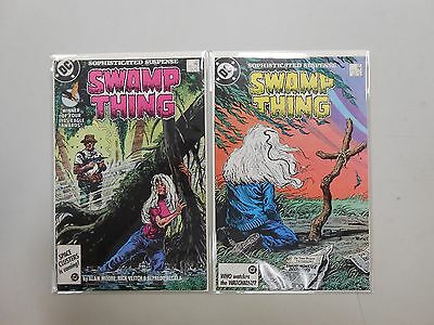 Swamp Thing #54 and 55! (1986, DC)! VF/NM9.0+! Copper age DC comic lot of 2!