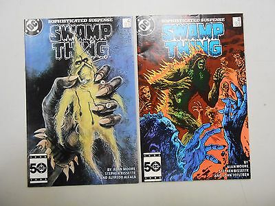 Swamp Thing # 41 and 42! (1985, DC)! VF/NM9.0 and FN/VF7.0+! Copper age!