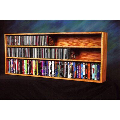 The Wood Shed Solid Oak Wall / Shelf Mount for CD / DVD / VHS Tape Media