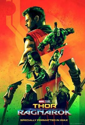THOR RAGNAROK 13x19 Original Promo Movie Poster MINT Imax Marvel Chris Hemsworth