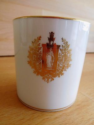 19Th Century Sevres Porcelain Coffee Can With Gilt Republic Figure And Motto