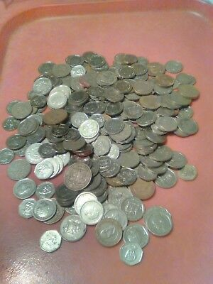 Costa Rica: Mixed Lot of coins totaling 2 pounds