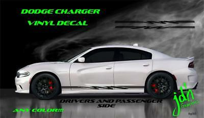 2006 2012 2015  Dodge Charger Checkers Racing Stripes SXT RT SRT8 HellCat #3