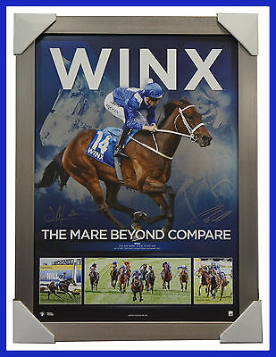 Winx Cox Plate Champion Signed Bowman Waller Print Mare Beyond Compare Frame