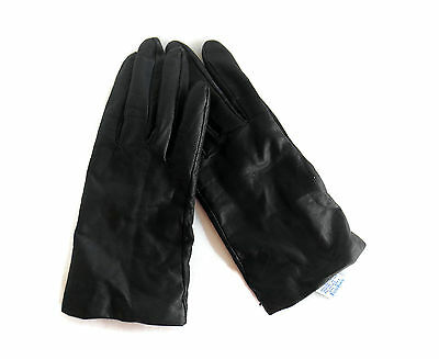 FOWNES Vintage LEATHER GLOVES Cashmere Lined Size 7 BLACK  Free Shipping