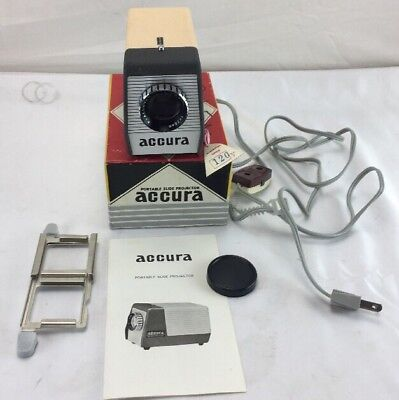 Vintage Accura Portable Slide Projector 35mm