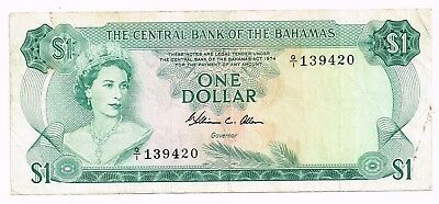 1974 BAHAMAS ONE DOLLAR NOTE - p35b