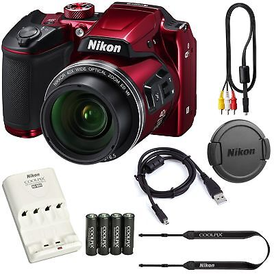 Nikon COOLPIX B500 16MP 40x Optical Zoom Digital Camera Bundle includes C... New