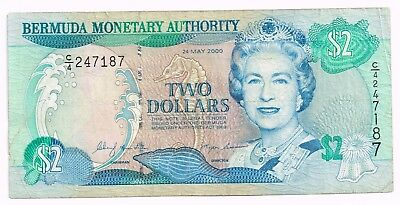 2000 BERMUDA TWO DOLLARS NOTE - p50a