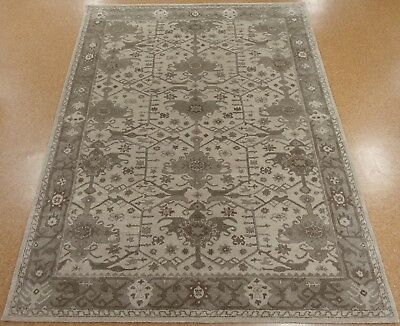 9 X 12 Pottery Barn Channing Persian Style Neutral New Hand Tufted Wool Rug