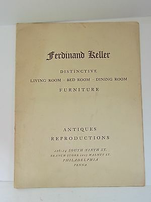 ANTIQUE Ferdinand Keller Phila. Pennsylvania FURNITURE Catalogue