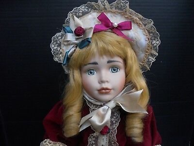 """16"""" ANTIQUE REPRODUCTION FRENCH BRU JNE ARTIST DOLL, cloth & bisque body"""
