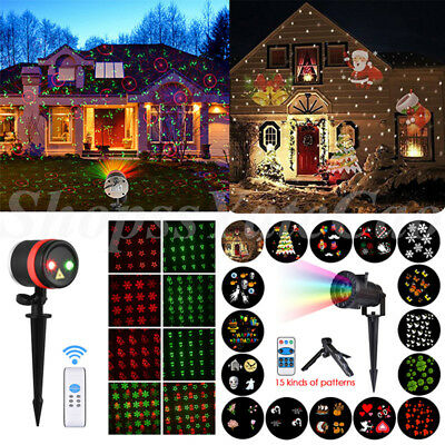 Christmas Projector Light Moving LED Laser Lamp Lanscape Outdoor Home Party Xmas