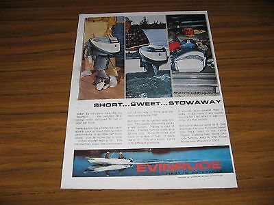 1964 Print Ad Evinrude 9 1/2 HP Sportwin Short Outboard Motors Milwaukee,WI