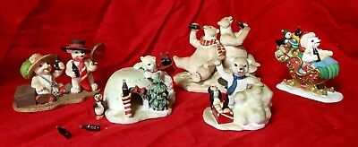 Lot Of 5 Coca-Cola Collectibles 4 Polar Bear Cub 1 Heritage Collection Figurines
