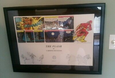 Flash Lithograph Warner Bros Studio Store Carmine Infantino 147 Of 250 Beautiful