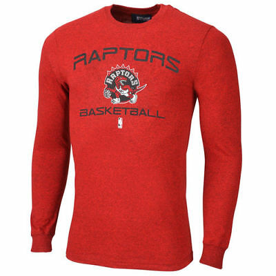 Majestic Toronto Raptors Red Jump Off Marled Long Sleeve T-Shirt - NBA