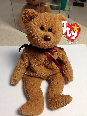 Rare Retired Curly TY Beanie Baby With All Tag Errors