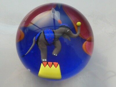 Baccarat Crystal 1998 Le Cirque Elephant Equilibrist Paperweight 76/100  COA/Box