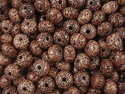 Wooden Beads 35pc Timber 15x10mm Wood Saucer Spacer Jewelry FREE POSTAGE