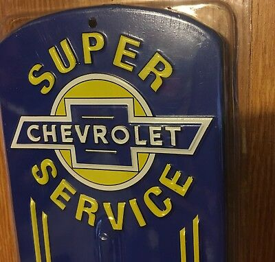 Chevrolet Parts Gas & Oil  Thermometer Metal Sign Shop Man Cave