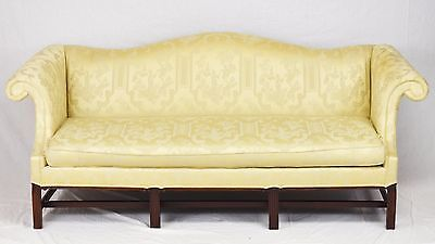 Hickory Chair Chinoiserie Chippendale Sofa Mahogany Frame Williamsburg Style