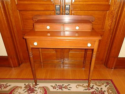 Antique Sheraton Softwood Step-back Stand with Three Drawers