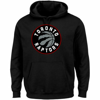 Majestic Toronto Raptors Black Big & Tall Primary Logo Pullover Hoodie - NBA