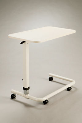 Cq Overbed Overchair Table Lightweight Mobile Spring Loaded Adjustable Height So