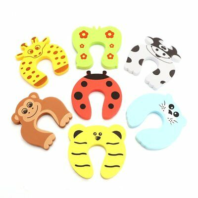 5X Baby Kids Door Stoppers Jammer Finger Pinch Guard Child Toddler Infant Safety