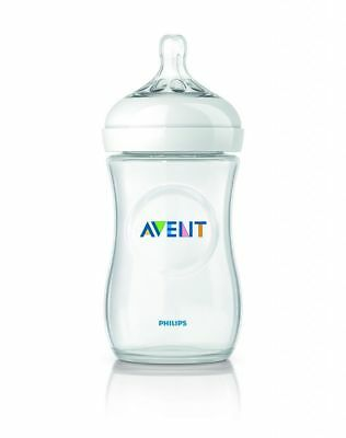 Philips Avent Natural Baby Feeding Bottle 260Ml 1Pk Bpa Free Made In England