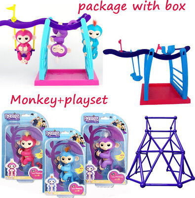 *Real* Wow Electronic Interactive FingerMonkey Toys - Baby Monkey Pets & Playset