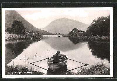 AK Killarney, Long Range, Ruderboot auf dem See 1934