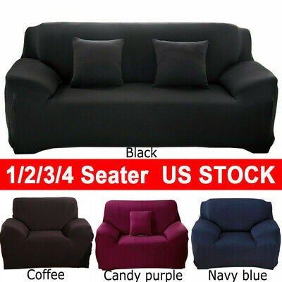 L Shape Stretch Elastic Fabric Sofa Cover Sectional/Corner Couch Covers