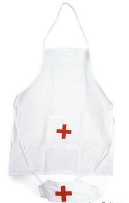 NEW Egmont Doctor or Nurse Apron & Hat - Perfect addition to Doctor Playsets
