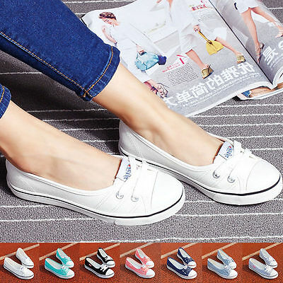 AU Women Casual Canvas Shoes Low Top Sneakers Running Leisure Ladies' Flats Shoe