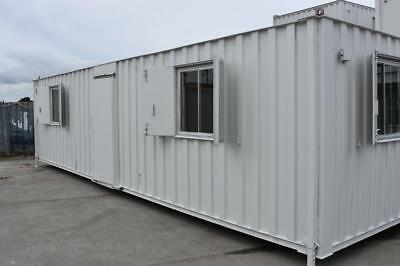 Portable Buildings 32' x 10' Anti-Vandal Office, Two offices & central kitchen