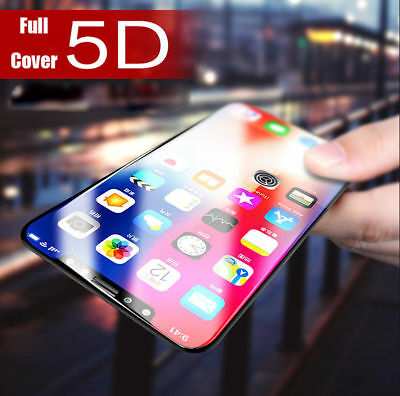 4D 5D Full Cover 9H Tempered Glass Screen Protector For iPhone 7 8+ 6S X Plus